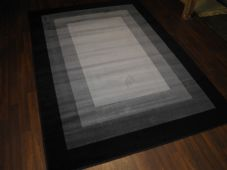 Modern Approx 8x5ft 160cmx230cm Woven Backed Squares Top Quality Rug Black/Greys